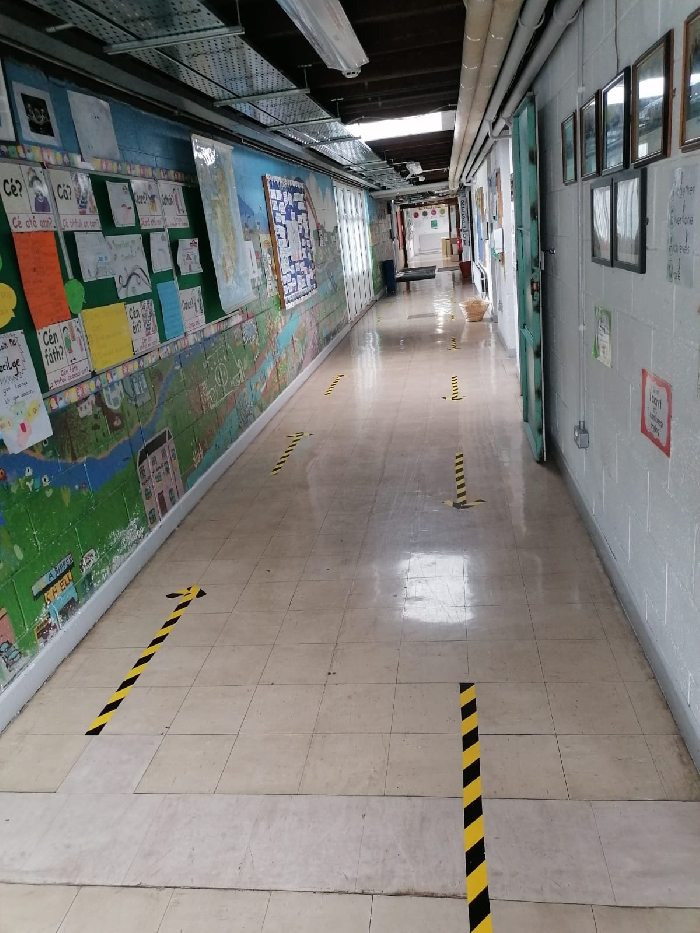 Slide image of One way  around the school