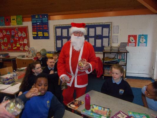 Slide image of Santa